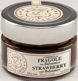G603  STRAWBERRY COMPOTE with BALSAMIC 130g