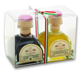 "L3600  Condiments set ""Calamaio""  Balsamic & Oil 2x100ml"